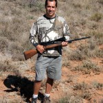 Greg with his 22.250 calibre rifle